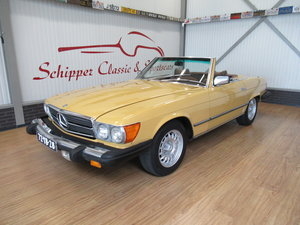 Picture of 1977 Mercedes 450SL Sahara Gelb For Sale
