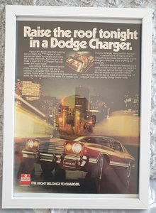 Picture of 1983 Original 1977 Dodge Charger Framed Advert