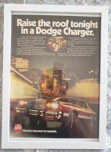 Original 1977 Dodge Charger Framed Advert