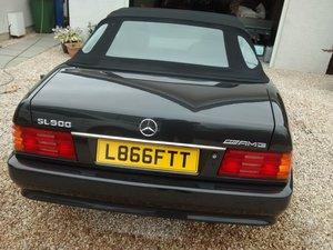 Picture of 1993 R129 SL500 blue/ black blauschwarz code 199