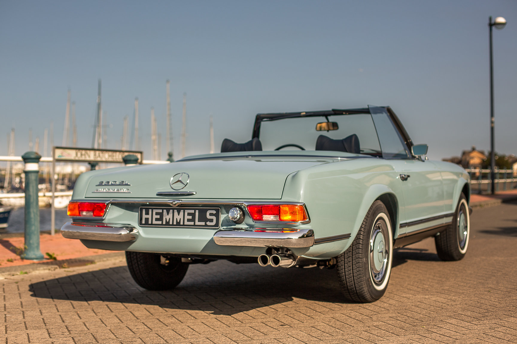 1970 Mercedes-Benz 280 SL Roadster in Horizon Blue by Hemmels For Sale (picture 2 of 6)