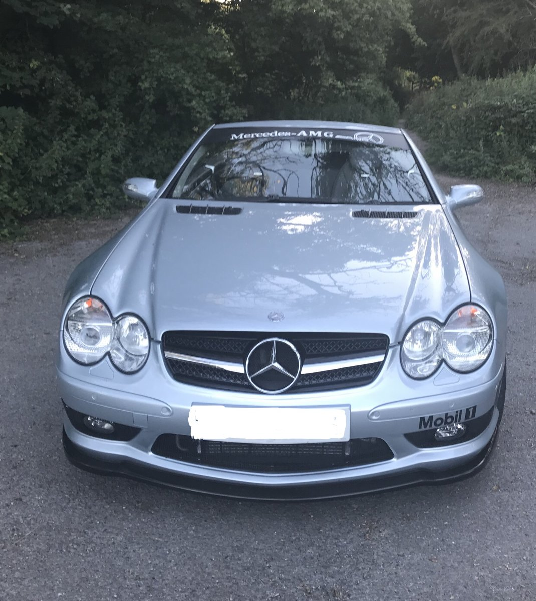 2004 550 bhp Mercedes Supercharged V8 SL55 AMG For Sale (picture 3 of 6)