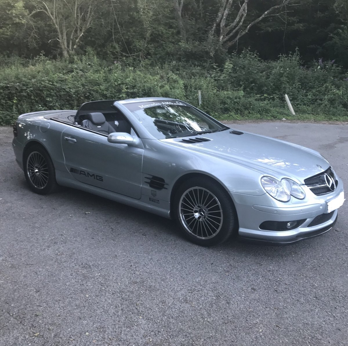 2004 550 bhp Mercedes Supercharged V8 SL55 AMG For Sale (picture 5 of 6)