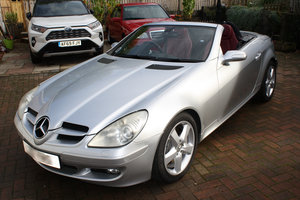Picture of 2005 Slk350 silver with dark red leather