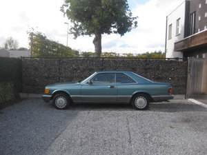 Picture of Mercedes 560 SEC  C126 Coupe 1986 in rare color Blue Green