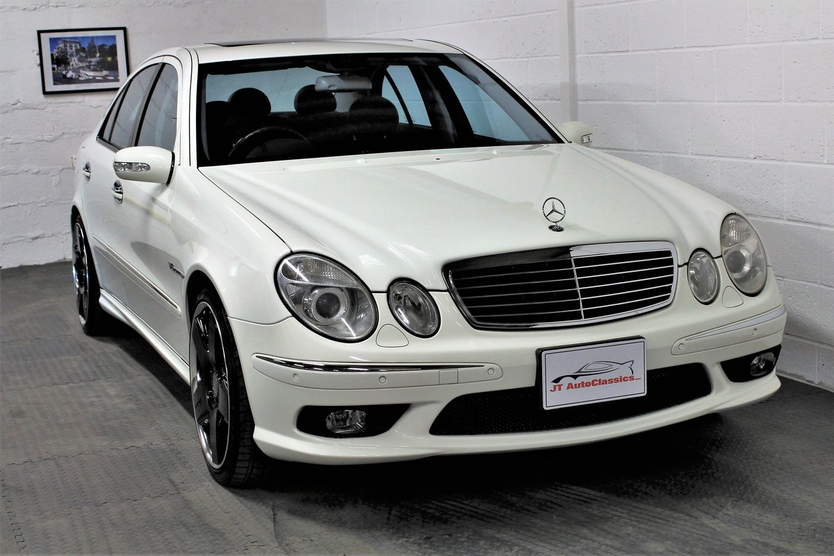 2005 Mercedes-Benz W211 E55 AMG,25,076 miles,Alabaster white For Sale (picture 1 of 6)