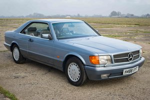 1990 Mercedes-Benz 560SEC - Diamond Blue, Grey Leather - FSH