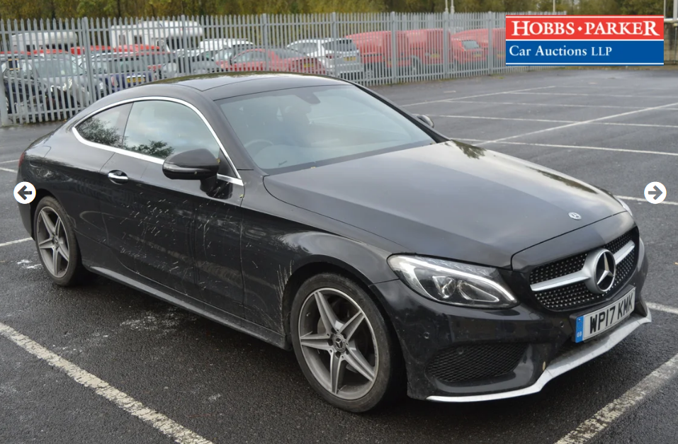 2017 Mercedes C220 AMG Line Premium D 28,821M for auction For Sale by Auction (picture 1 of 6)