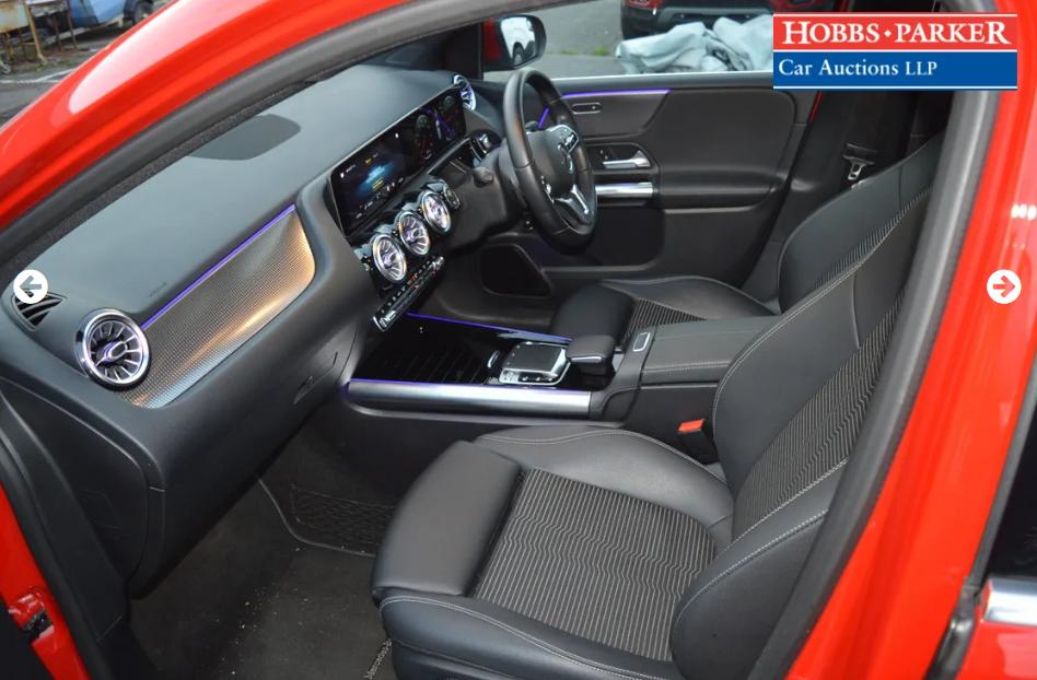 2019 Mercedes B200 Sport Premium D Auto - 10,188 miles For Sale by Auction (picture 5 of 6)