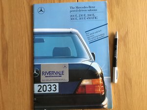 Picture of 1988 Mercedes E class brochure For Sale