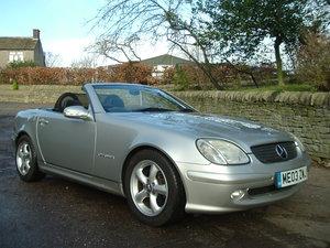 03/03 Mercedes SLK 230. Low Miles/2 Owners/FSH. Silver/Black