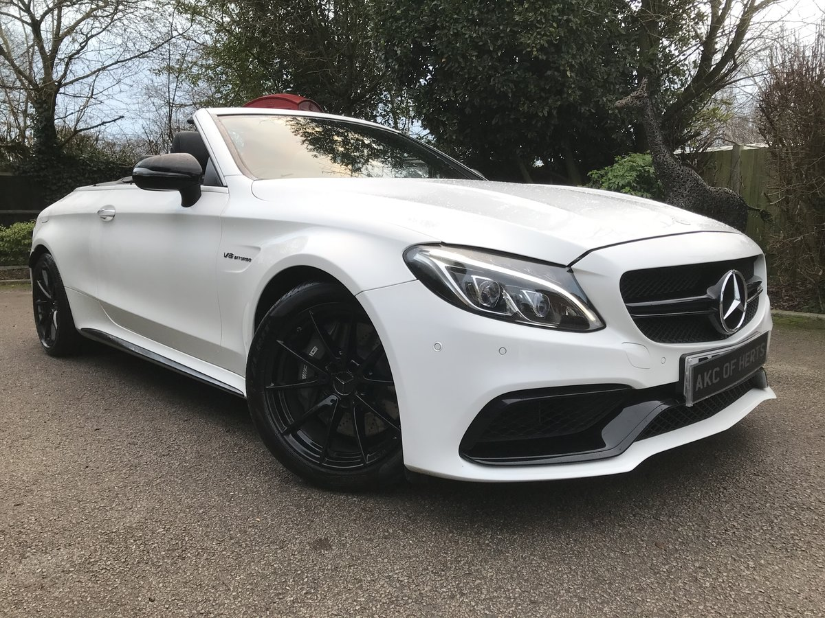 2017 Mercedes-Benz C Class 4.0 C63 V8 BiTurbo AMG Cab, 2 dr For Sale (picture 1 of 12)