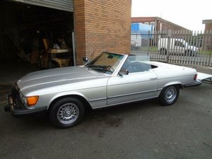 Picture of MERCEDES BENZ SL 450 LHD CONVERTIBLE(1980) SILVER/BLACK! For Sale