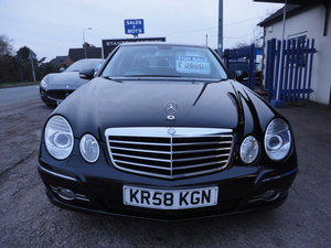 Picture of 2009 REG  MERCEDS BENZ E220 DIESEL AUTO BLACK WITH LEATHER For Sale
