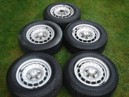 """Mercedes 14"""" Alloy Wheels R107 SL W126 SEC For Sale (picture 1 of 1)"""