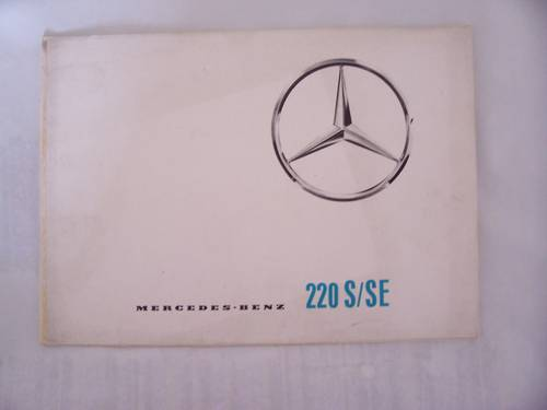 MERCEDES BENZ 220 S/SE FINTAIL SALES BROCHURE 1964 For Sale (picture 1 of 5)