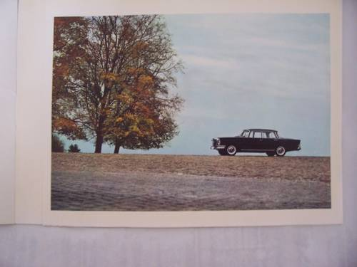 MERCEDES BENZ 220 S/SE FINTAIL SALES BROCHURE 1964 For Sale (picture 2 of 5)