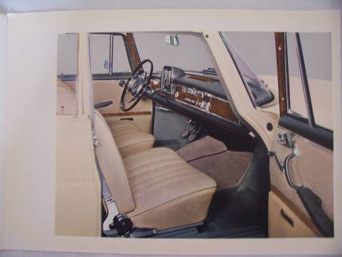 MERCEDES BENZ 220 S/SE FINTAIL SALES BROCHURE 1964 For Sale (picture 3 of 5)