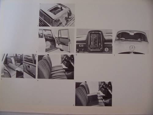 MERCEDES BENZ 220 S/SE FINTAIL SALES BROCHURE 1964 For Sale (picture 5 of 5)