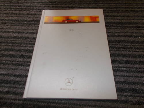 0000 mercedes sl 1999 sales book For Sale (picture 1 of 2)