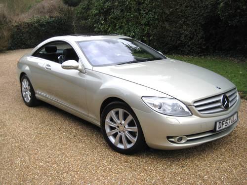 2007 Mercedes Benz CL500 In Rare Designo Silver Pearl For Sale (picture 1 of 6)