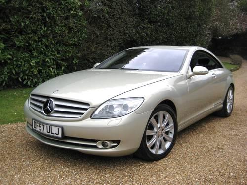 2007 Mercedes Benz CL500 In Rare Designo Silver Pearl For Sale (picture 2 of 6)