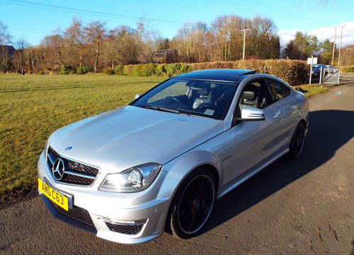 2012 Mercedes AMG C63 Coupe c/w pano roof +19 For Sale (picture 3 of 6)