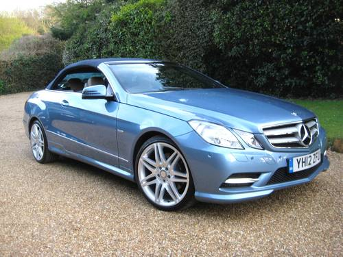2012 Mercedes Benz E250 CDI BlueEfficiency AMG Sport Convertible For Sale (picture 1 of 6)