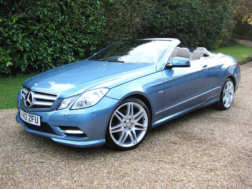 2012 Mercedes Benz E250 CDI BlueEfficiency AMG Sport Convertible For Sale (picture 2 of 6)