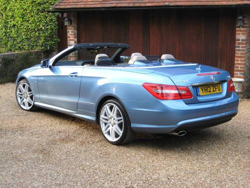 2012 Mercedes Benz E250 CDI BlueEfficiency AMG Sport Convertible For Sale (picture 5 of 6)
