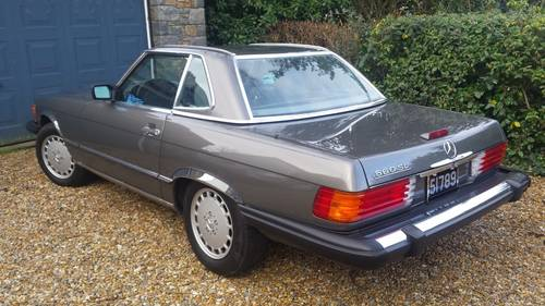 1989 Mercedes 560 SL Roadster in excellent condition low mileage For Sale (picture 3 of 6)