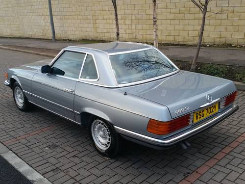 1983 Mercedes 280 SL W107 Auto Convertible For Sale (picture 2 of 6)