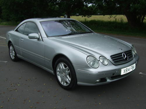 2000 MERCEDES BENZ CL500 AUTOMATIC For Sale (picture 1 of 6)