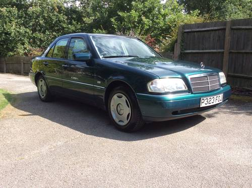 1996 MERCEDES C180 ELEGANCE AUTO 89000 miles FSH W202 2 owners SOLD (picture 1 of 6)