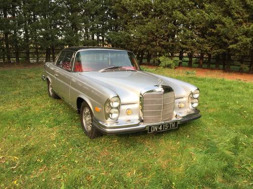 1967 Mercedes 250 SE Auto Coupe. For Sale (picture 1 of 6)