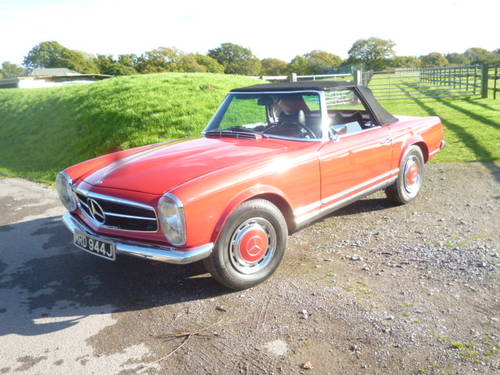 1971 MERCEDES 280SL PAGODA CONVERTIBLE For Sale (picture 1 of 6)