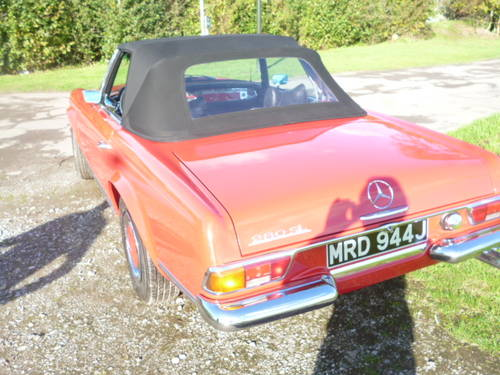 1971 MERCEDES 280SL PAGODA CONVERTIBLE For Sale (picture 2 of 6)