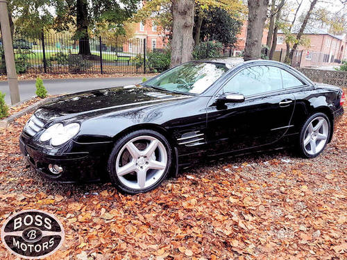 2007 Mercedes SL 350 3.5 Convertible Sport Coupe Black For Sale (picture 1 of 4)