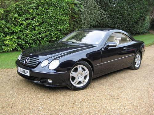 2004 Mercedes Benz CL500 With Just 20,000 Miles From New For Sale (picture 1 of 6)