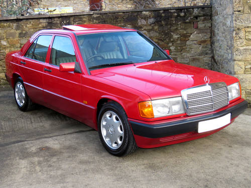 1991 Mercedes W201 190D 2.5 5sp Man - Just 46K Miles - Pristine SOLD (picture 3 of 6)