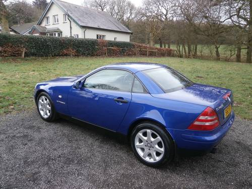 1999 MERCEDES SLK230K AUTO BLUE JUST 22K NO RUST STUNNING!! SOLD (picture 2 of 6)