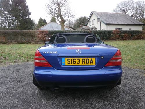1999 MERCEDES SLK230K AUTO BLUE JUST 22K NO RUST STUNNING!! SOLD (picture 3 of 6)