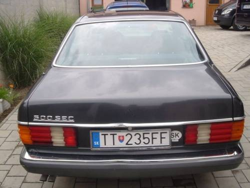 1990 Mercedes 126 SEC 500 coupe For Sale (picture 1 of 6)