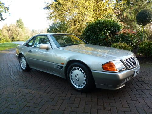1991 UK Supplied SL500. Only 62k+One Family ownership for 26 yrs! SOLD (picture 5 of 6)