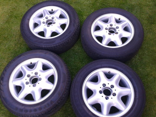 2003 Mercedes–Benz Set 4 Alloy Wheels & Tyres Refurbished 15 Inch SOLD (picture 1 of 6)