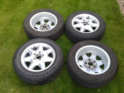 2003 Mercedes–Benz Set 4 Alloy Wheels & Tyres Refurbished 15 Inch SOLD (picture 2 of 6)