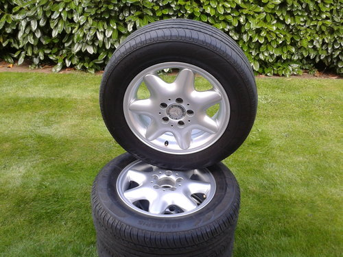 2003 Mercedes–Benz Set 4 Alloy Wheels & Tyres Refurbished 15 Inch SOLD (picture 3 of 6)