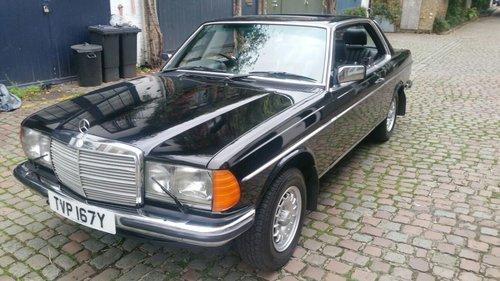 1983 RARE BLACK ON BLACK MERCEDES 230CE RHD MANUAL SOLD