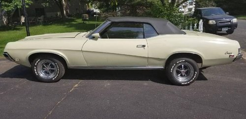 2 Owner, True 1969 Mercury Cougar XR-7 Convertible  For Sale (picture 1 of 6)