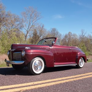 1941 Mercury Eight Club Convertible Burgundy(~)Ivory Manual For Sale